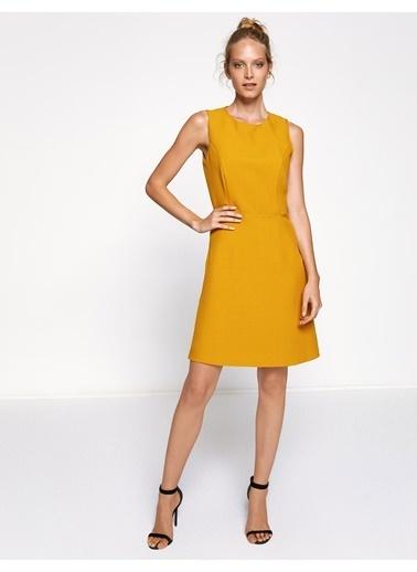 Koton Askılı Kısa Elbise Hardal